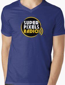 Super Pixels Radio Mens V-Neck T-Shirt