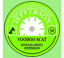 Voodoo Scat, Howling Jimmy Jefferson Photographic Print