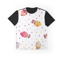 pattern with a cute cupcakes Graphic T-Shirt