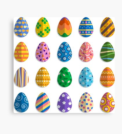 Easter eggs collection Canvas Print