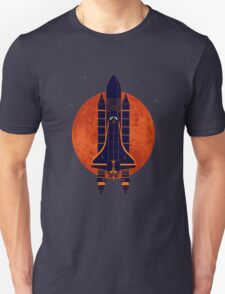 Space Ship Over Venus Unisex T-Shirt