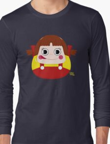 Neko Chan Daruma Long Sleeve T-Shirt