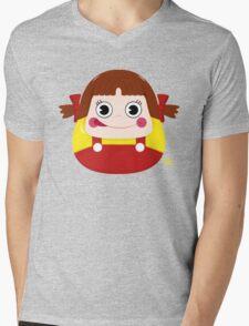 Neko Chan Daruma Mens V-Neck T-Shirt