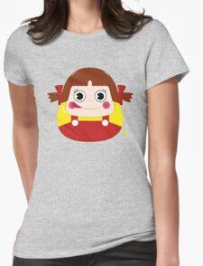 Neko Chan Daruma Womens Fitted T-Shirt