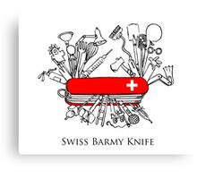 Swiss Barmy Knife Canvas Print