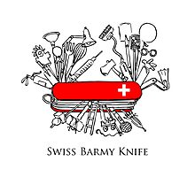 Swiss Barmy Knife Photographic Print