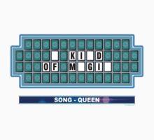 QUEEN - song (Wheel of Fortune).  Canción de QUEEN (Ruleta de la Fortuna) Kids Tee