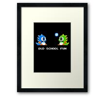 Old School Fun - Bubble Bobble - Bub and Bob - Arcade Fun + Retro Love Framed Print