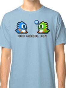 Old School Fun - Bubble Bobble - Bub and Bob - Arcade Fun + Retro Love Classic T-Shirt