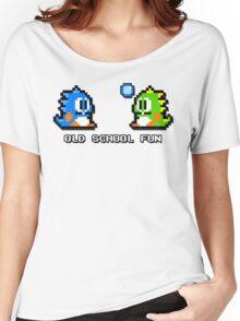 Old School Fun - Bubble Bobble - Bub and Bob - Arcade Fun + Retro Love Women's Relaxed Fit T-Shirt