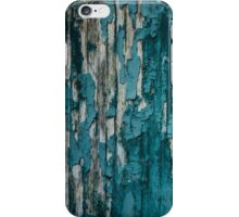 Blue Old Peeling Paint Wood Wall Texture iPhone Case/Skin