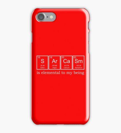 Sarcasm Elements iPhone Case/Skin