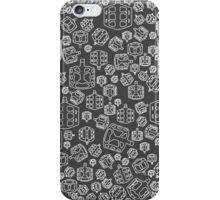White MTB Pedals iPhone Case/Skin