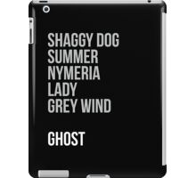 Direwolves iPad Case/Skin