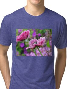 Poppies in the Pink Zone.............. Tri-blend T-Shirt