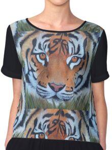 Prowling tiger (12) Chiffon Top