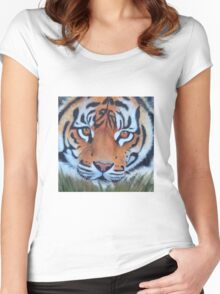 Prowling tiger (12) Women's Fitted Scoop T-Shirt
