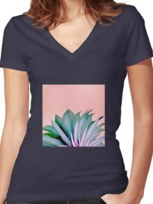 Mystery Beauty Women's Fitted V-Neck T-Shirt