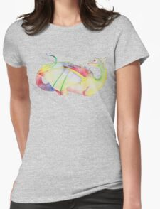 Rainbow dragon design Womens Fitted T-Shirt