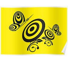 Butterfly Dart Poster