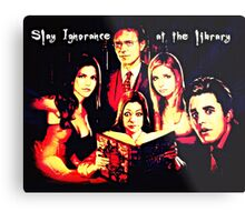 Slay Ignorance at the Library Metal Print