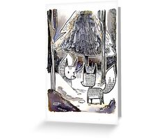 Winter Foxes Greeting Card
