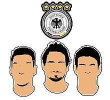 Germany - Die Mannschaft - Hummels, Ozil, Muller - EURO 2016 Photographic Print