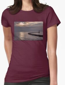 Roker Pier Sunderland Womens Fitted T-Shirt