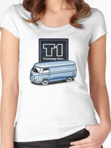 T1 Bus - Economy Class Women's Fitted Scoop T-Shirt