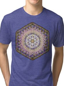 Flower of life rainbow mandala Tri-blend T-Shirt