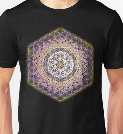 Flower of life rainbow mandala Unisex T-Shirt