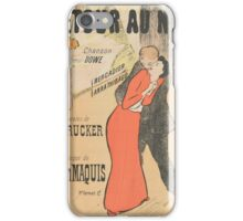 Sheet music Retour au nid by H. Drucker and Gaston Maquis, performed by Mercadier and Anna Thibaud Henri Gabriel Ibels  iPhone Case/Skin