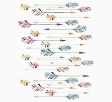 Feather arrow seamless pattern. Baby Tee