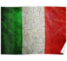 Grunge Italy flag Poster