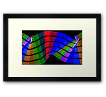 Pixel Sticking Framed Print