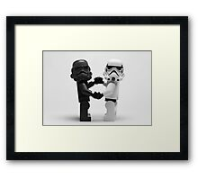 Lego Star Wars Stormtroopers Love Minifigure Framed Print