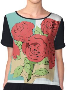 Your bouquet of roses Chiffon Top