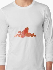 Octopus inspired silhouette Long Sleeve T-Shirt