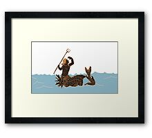 Ancient Greek Sea Monsters Framed Print