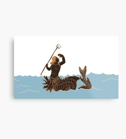 Ancient Greek Sea Monsters Metal Print