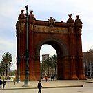 The Arc de Triomf in Barcelona by annalisa bianchetti
