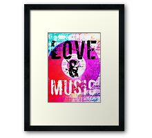 Love & Music Mixed Media Design Notebooks and Accessories  Framed Print