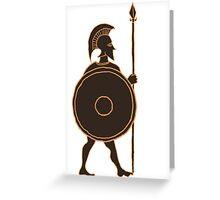 Spartan Hoplite  Greeting Card