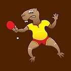 Capybara playing table tennis by Zoo-co