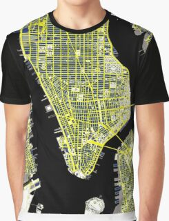 New York  city map vintage Graphic T-Shirt