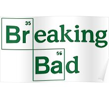 Breaking Bad Peroidic Table Logo  Poster