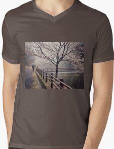 Strolling in the Rain Mens V-Neck T-Shirt