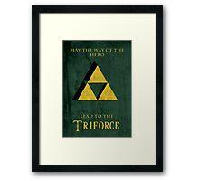 Triforce Lives Framed Print