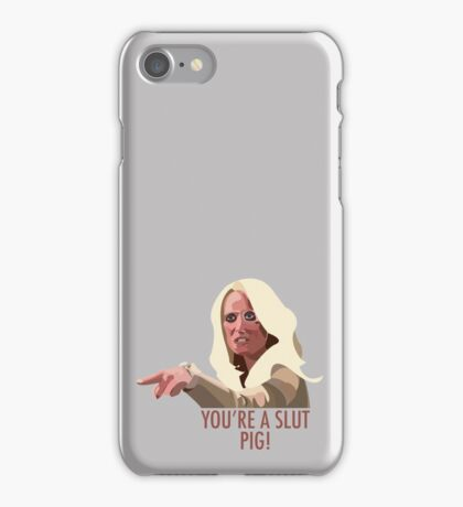 Kim Richards - You're a slut pig! iPhone Case/Skin