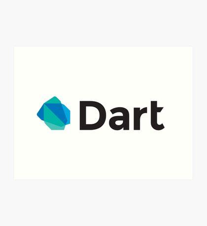 dart programming language Art Print